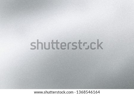 Abstract texture background, light shining on silver stainless sheet #1368546164