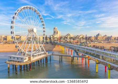 The Ferris Wheel & The Pier at Scheveningen, The Hague, The Netherlands #1368585692