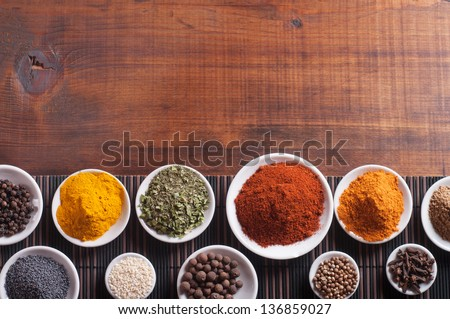 Various spices selection. #136859027