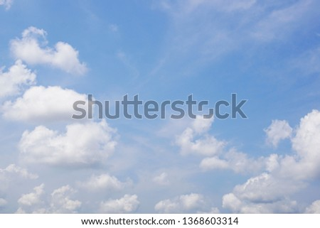 The blue sky and beautiful clouds background. #1368603314