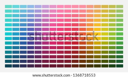 Color palette. Table color shades. Color harmony. Trend colors. Vector illustration #1368718553