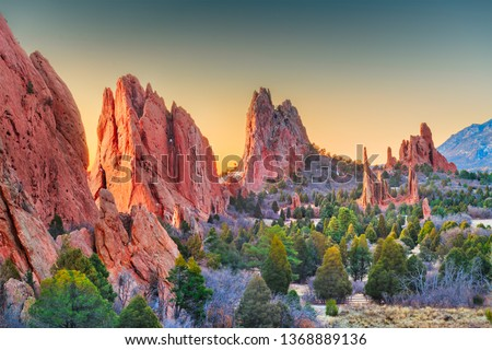 Garden of the Gods, Colorado Springs, Colorado, USA. #1368889136