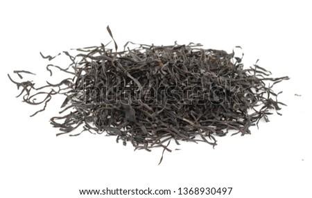Arame. Dry seaweed isolated on white background. Sea vegetable. #1368930497