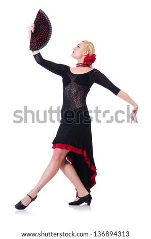 Dancer dancing dances isolated on white #136894313