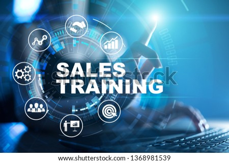 Sales training, Business development and marketing concept on virtual screen. #1368981539