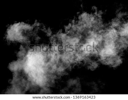 close up of steam smoke on black background #1369163423
