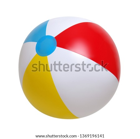 Beach ball isolated on a white background #1369196141