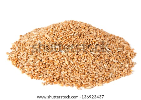 wheat on a white background #136923437
