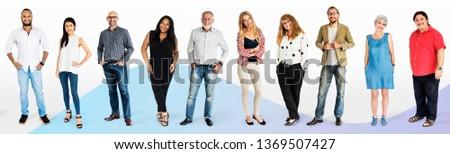 Diverse people character mockups set #1369507427