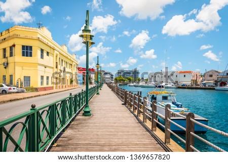 Promenade at marina of Bridgetown, Barbados. #1369657820