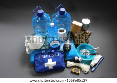 Prepare in advance for a natural disaster by putting together important items that will help you survive.Water,food,shelter,light source,first aid kit are just a few of the items needed to survive. #1369685129