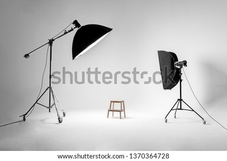 Studio photo with soffits, chair. #1370364728