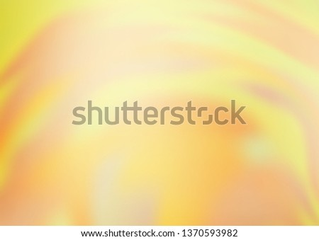 Light Yellow, Orange vector abstract blurred template. A vague abstract illustration with gradient. The blurred design can be used for your web site. #1370593982