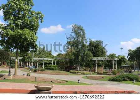 green park in green zone city #1370692322