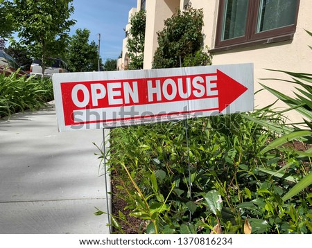 An Open House sign for real estate. #1370816234