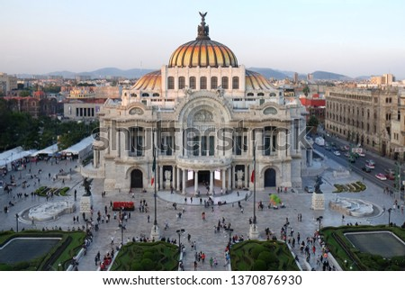 Building in Mexico with city view #1370876930