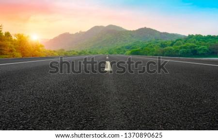 Road and Natural Landscape Landscape #1370890625