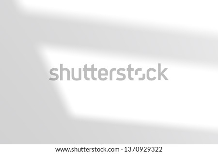 Wall shade on a white wall. White and Black for overlaying a photo or mockup #1370929322