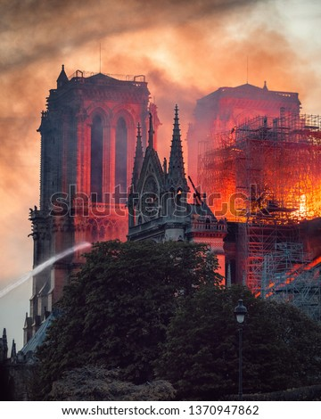 Notre Dame Fire in Paris #1370947862
