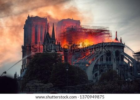 Notre Dame Fire Paris #1370949875