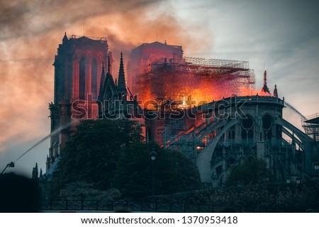 Notre Dame Fire Paris #1370953418