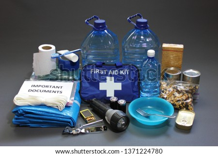 Prepare in advance for a natural disaster by putting together important items that will help you survive.Water,food,shelter,light source,first aid kit are just a few of the items needed to survive. #1371224780