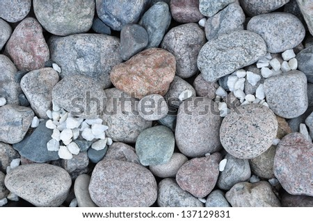 Stone sizes and shapes