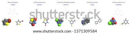 Group of aromatic hydrocarbons, Molecular structure, 3D molecular plot and structure diagram #1371309584