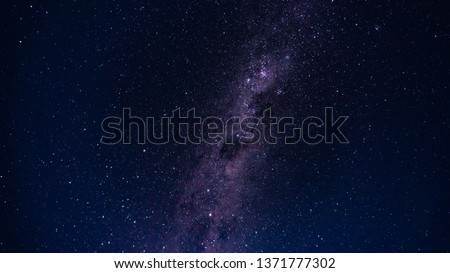 Milky Way star trails with hills and mountains #1371777302