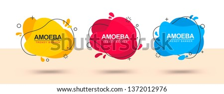Modern set of abstract banners. Vector template banners. Template ready for use in web or print design. #1372012976