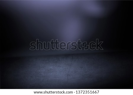 Texture dark concentrate floor with mist or fog          - Image #1372351667