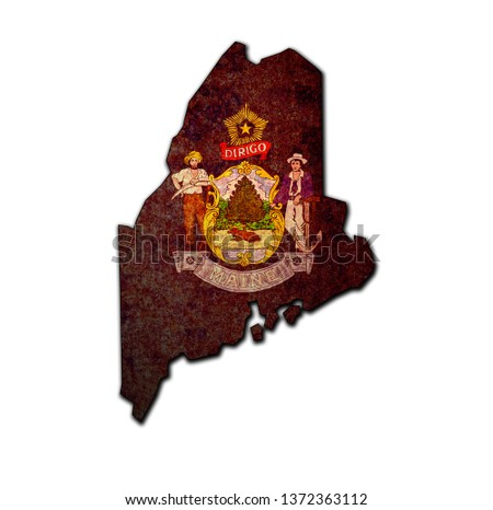 territory of Maine state isolated from other states of USA #1372363112