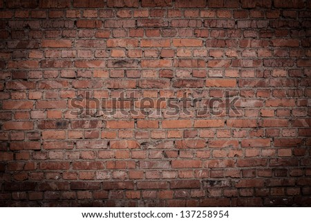 old brick wall for background #137258954
