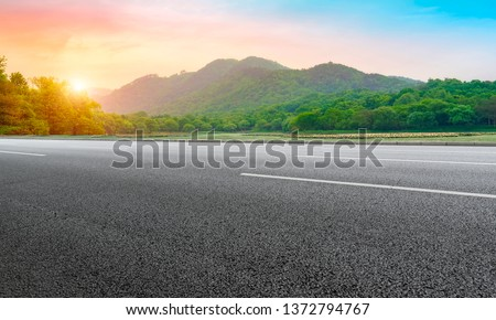 Natural Landscape of Road and Landscape Scenery #1372794767