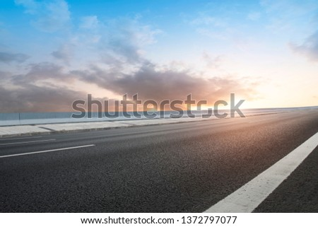 Road and Sky Landscape #1372797077