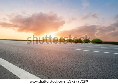 Road and Sky Landscape #1372797299