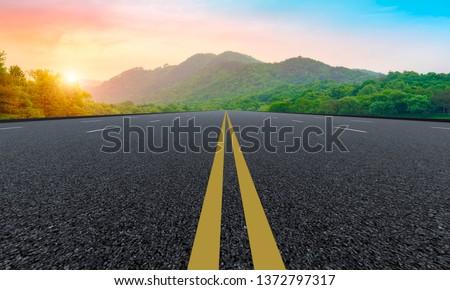 Natural Landscape of Road and Landscape Scenery #1372797317