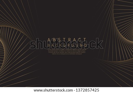 Abstract background. Golden line wave. Luxury style. Vector illustration. Royalty-Free Stock Photo #1372857425
