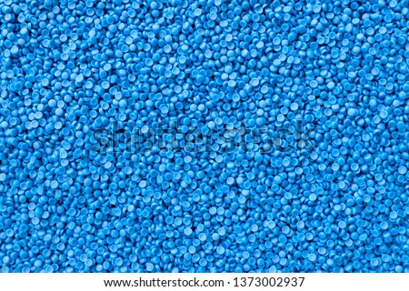 Close-up of plastic polymer granules. polymer plastic. polymer pallet.  Royalty-Free Stock Photo #1373002937