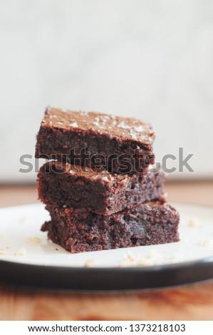 Walnut chocolate brownie #1373218103