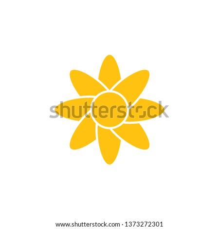Flower graphic design template vector isolated illustration #1373272301