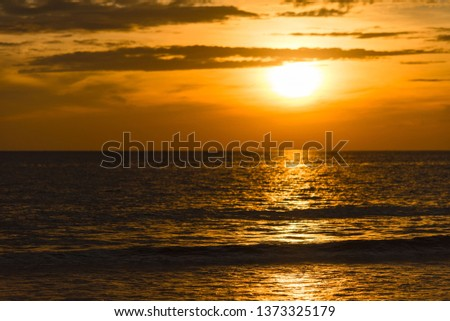 Beautiful Sunset to the Sea #1373325179