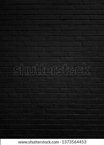 Abstract Black brick wall texture for pattern background. #1373564453