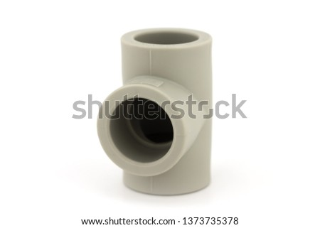 Plastic fittings for pp tube on a white background #1373735378