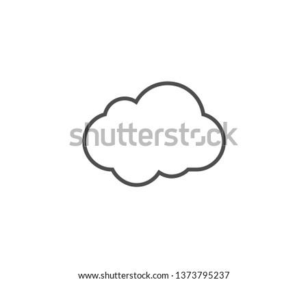 Cloud icon . Vector . EPS 10 #1373795237