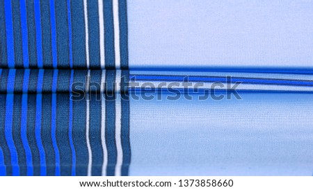 Texture, background, pattern, silk fabric, brown color, geometric lines, pattern from tribal straight lines of different shades, geometric pattern, set for your projects, blue and white #1373858660
