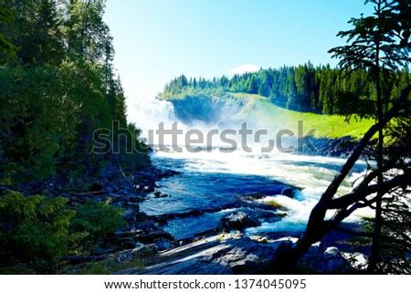 Waterfall in Jämtland Sweden #1374045095