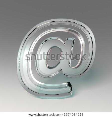 3D e-mail icon symbol #1374084218