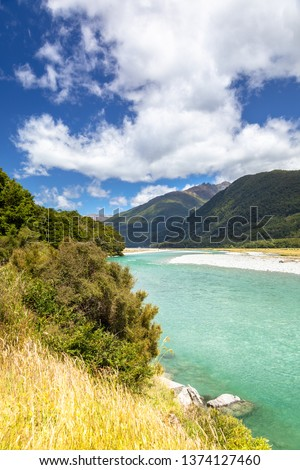 An image of the Haast River Landsborough Valley New Zealand #1374127460