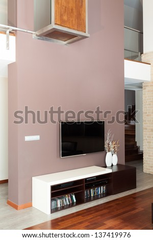 Grand design - Living room with tv #137419976